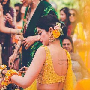 Hairstyle for Haldi ceremony