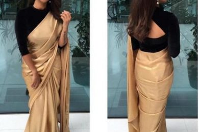 How to wear a satin saree