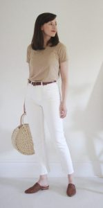 How to wear white trousers in summers
