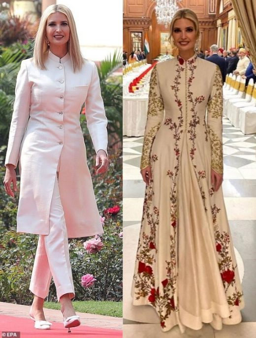 Ivanka trump wears creations from Indian designers