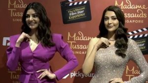 Kajal Aggarwal wax statue at Madame Tussauds Singapore