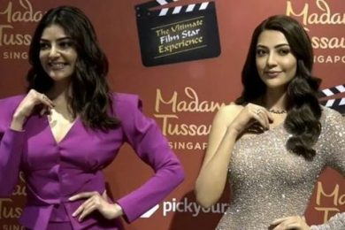 Kajal Aggarwal's Wax Statue Unveiled At Madame Tussauds, Singapore