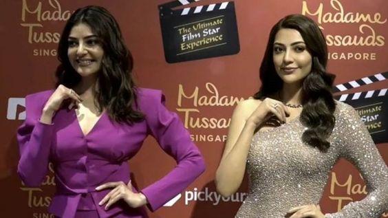 Kajal Aggarwal wax statue at Madame Tussauds Singapore