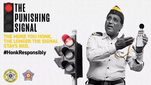 Mumbai Police campaign Honk More Wait More