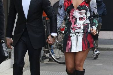 Priyanka Chopra in Dracula print dress