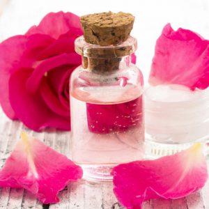 Rose water as natural skin toner