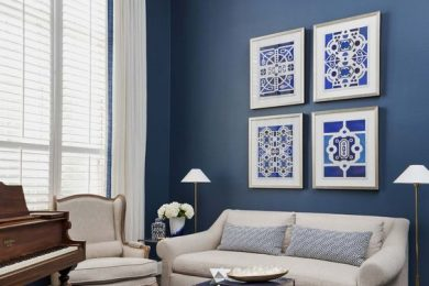 Use blue, pantone color of the year 2020 for interiors