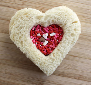 Valentine's Day sandwich recipes