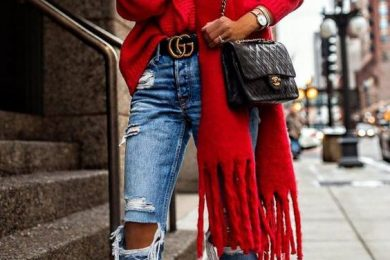 7 Ways To Wear A Regular Red Sweater For A Perfect Valentine's Day Outfit