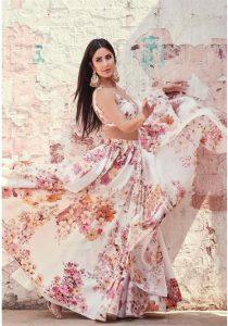 Katrina Kaif in Sabyasachi floral lehnga set