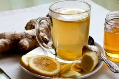 Lemon ginger honey tea immunity booster