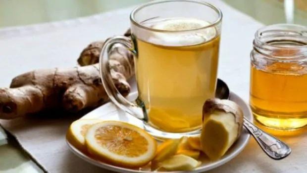 Lemon ginger honey tea immunity booster