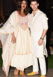 Priyanka and Nick Jonas at Isha Ambani's holi party