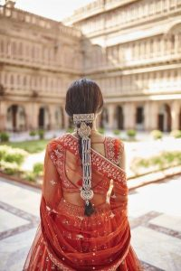 Traditional hair accessories for the brides