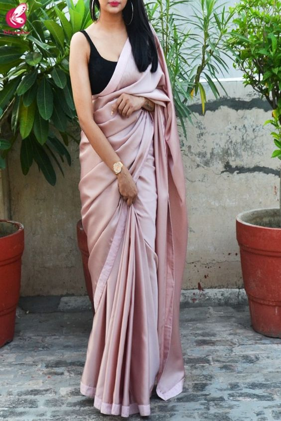 Black sleeveless blouse saree looks