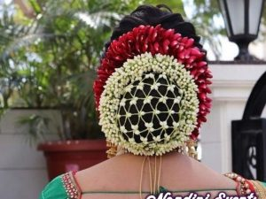 Braided bun cover for Indian hairstyle