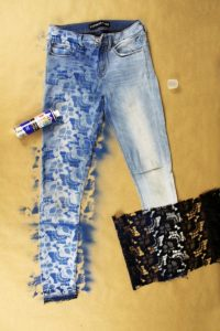 DIY Hand painted denim