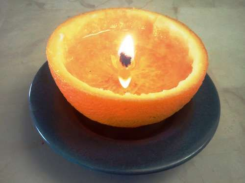 Orange peel diya