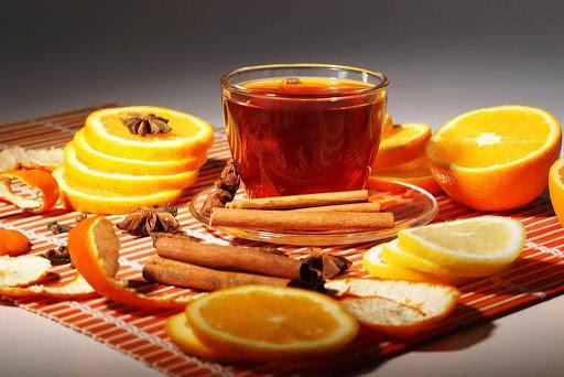 Orange peel uses, fruity orange tea