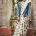 Wear Denim Jackets With Saree's For A Fusion Look