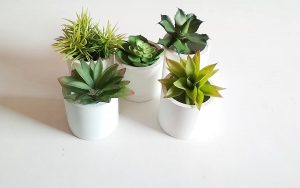 DIY cement planter pots