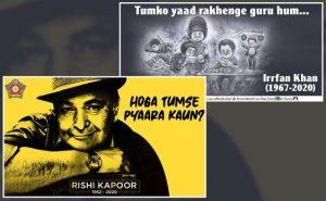Mumbai police pays tribute to Irfaan Khan and Rishi Kapoor