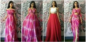 No cut, no sew saree dress drape