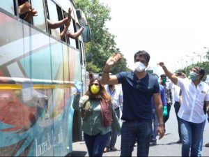 Sonu Sood helping migrant workers to go back to their homes