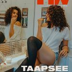 Taapsee Panu shoots for a magazine cover from the comfort of her home