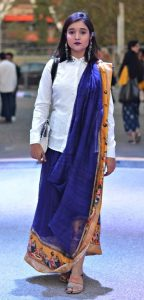 Wear white shirt with saree's
