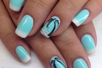 Beach inspired nail art