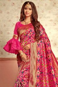 Bell sleeves for saree blouse