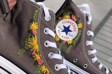 Embroidered sneakers-Threads-WeRIndia