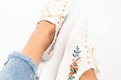Needlecraft Embroidered Sneakers