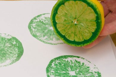 Vegetable and fruit  printing for home craft