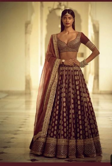 Brocade lehnga designs