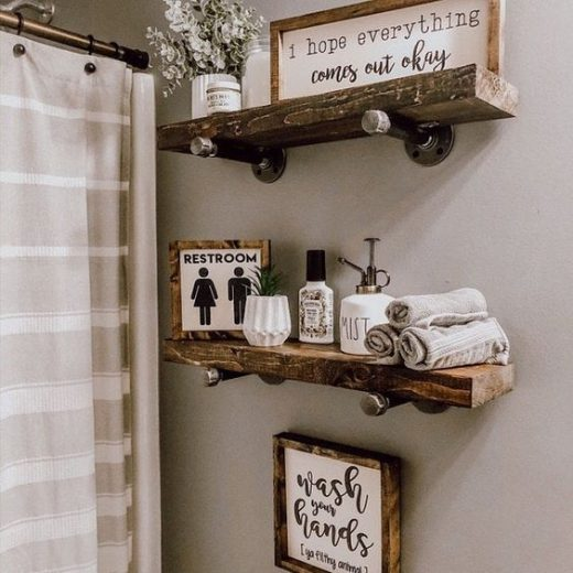 Floating shelf for bathroom