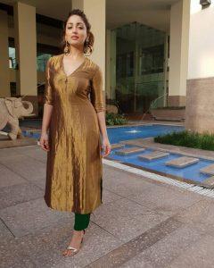 Lurex fabric kurta designs