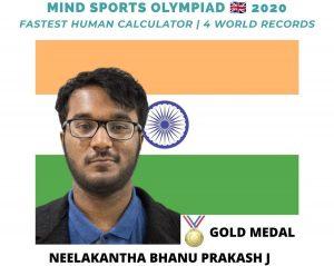 Neelakantha Bhanu Prakash, Worlds fastest human calculator