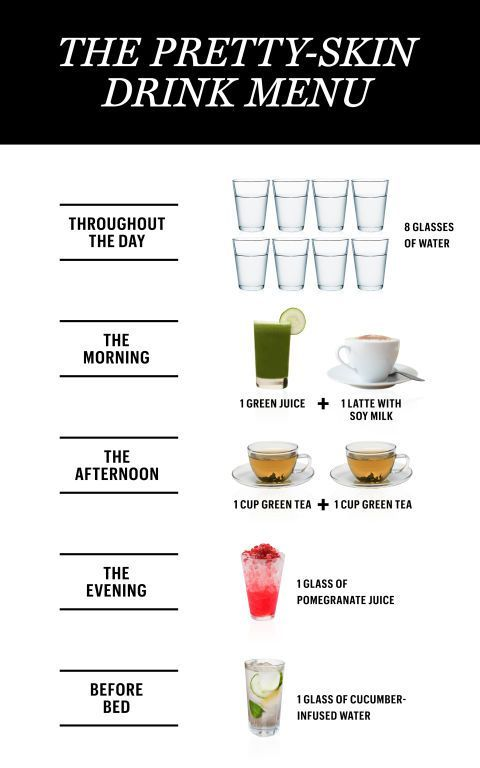 24 hrs Pretty skin drink menu