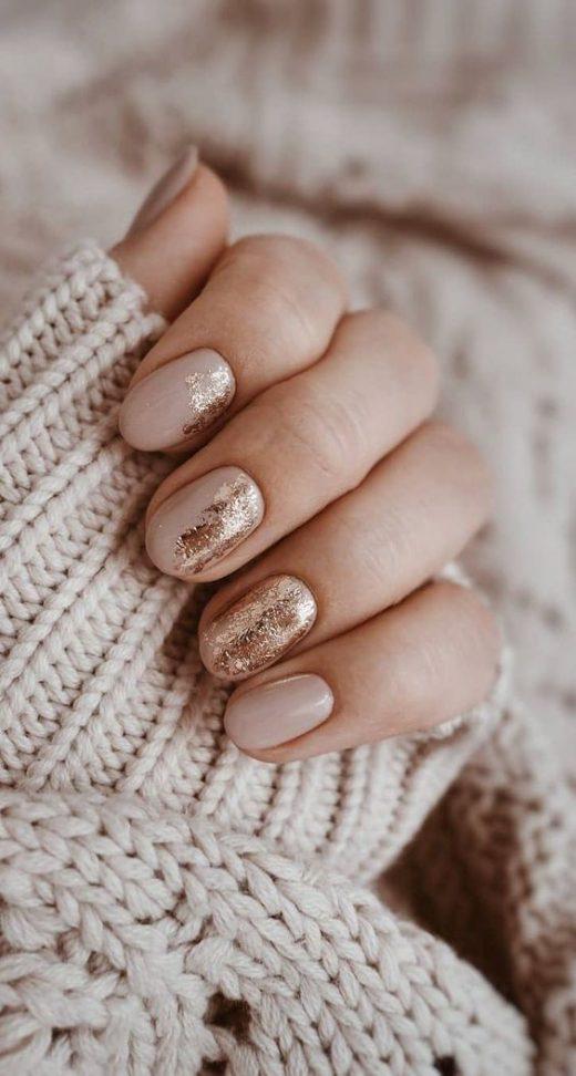 Foil transfer nail art designs