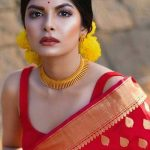 Wear Red Silk Saree's with elan