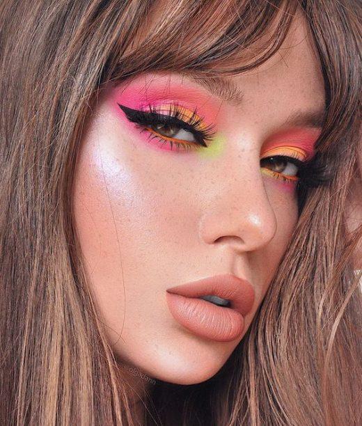 Neon eye makeup trend 2020