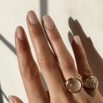 Pair nude nails with these ring styles to make your hands look perfectly stylish