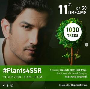 #Plant4SSR, fulfilling Sushant Singh Rajput's dream to plant 1000 trees