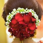 Floral Bun Ideas Adorned With Real Rose Petals