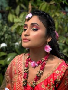 colored eye makeup for Indian brides