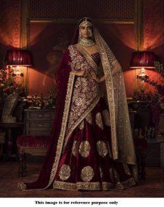 How to drape a velvet dupatta with a bridal lehnga