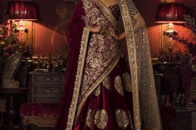 4 Ways To Look Sassy In A Bridal Velvet Dupatta