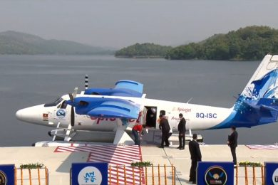 PM Modi Launches India's First Seaplane Service From Ahmedabad To Kevadia, Gujarat